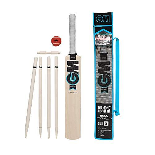 Gunn & Moore Kinder Diamond Cricket-Set, Schwarz/Blau/Weiß, 3