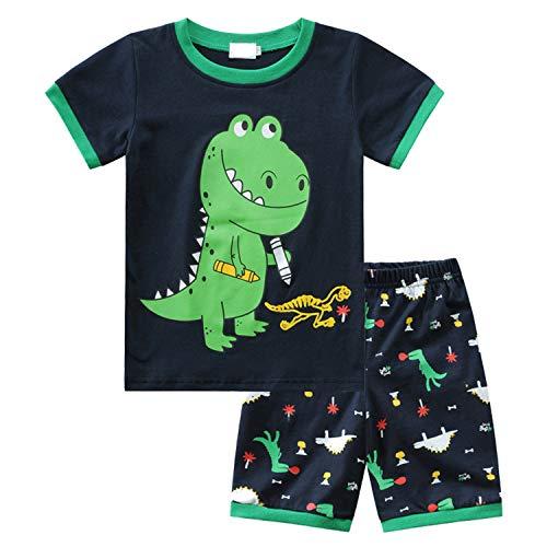 Jungen Schlafanzug Baumwolle Kinder Kurzarm Pyjama