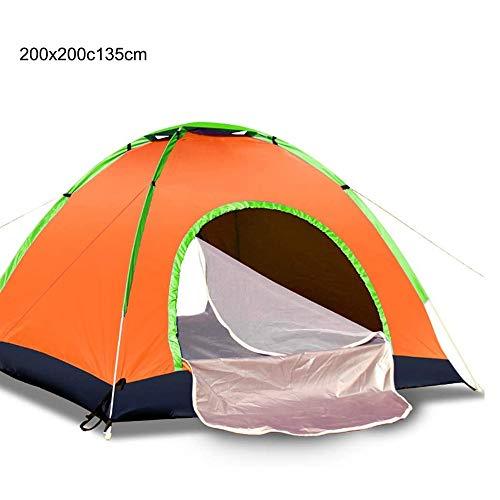 DXYSS Tienda Camping al Aire Libre Persona 3-4 Tienda de campaña, fácil configuración instantánea Protable Cúpula Pop-up automático de 4 Estaciones Mochilero Carpa (Color : B)