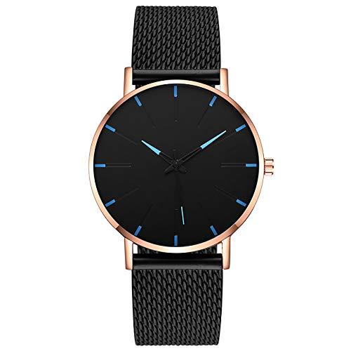 Herren Analog Quarz Uhr Klassisch Mode Business Automatik Uhren mit Lederarmband Luxus Elegant Armbanduhr für Männer (Mehrfarbig-07)
