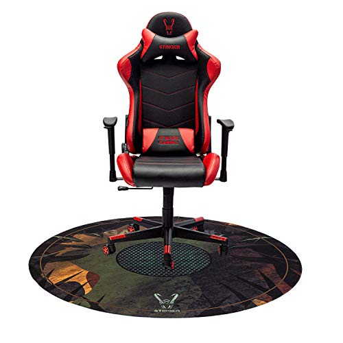 Woxter Stinger Station Red - Silla Gaming(Racing) + Alfombrilla Gaming de Suelo