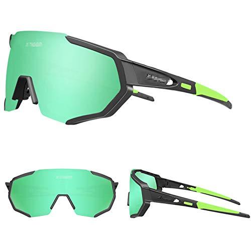 ZYQDRZ Gafas De Montar Polarizadas para Exteriores, Gafas De Sol De Parabrisas para Bicicletas Deportivas Al Aire Libre, con 3 Lentes Intercambiables, Utilizadas para Pesca, Golf Y Ciclismo,#5