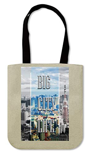Life | Series | Tokyo Town | Popular Words | Osom Quotes | Cool T Shirt | Nice To | Super | Beautiful Landscape Canvas Einkaufstasche
