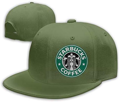 ATRXZ Verstellbar Damen Herren Starbucks Logo Graphic Baseball Cap M/ütze Baseballcap Hat Snapback Kappe Black