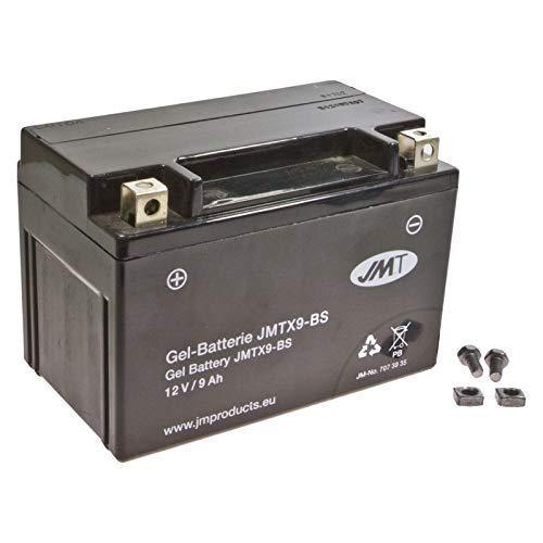 YTX9-BS Gel Batería para YP 250 R X-Max Negro Máximo Año 2009 de JMT