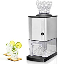 Costzon Electric Ice Crusher, Stainless Steel Ice Shaved Machine w/Large Ice Container, Suction Cups, Quick Heat Dissipation, for Party, Gathering, Home