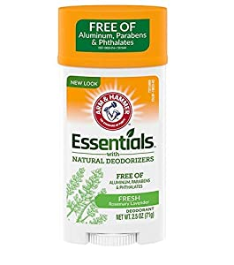 ARM & HAMMER Essentials Natural Deodorant Fresh Rosemary Lavender 2.50 oz (Pack of 4)