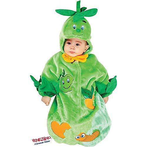 Babyshop Baby-Plüsch-Schlafsack Apfel grün 88611, ab Geburt mit Kapuze, Klettverschluss