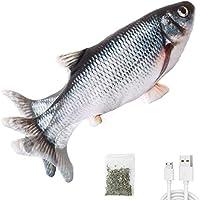 "Potaroma Electric Flopping Fish 10.5"", Moving Cat Kicker Fish Toy, Realistic Floppy Fish Dog Toy, Wiggle Fish Catnip..."