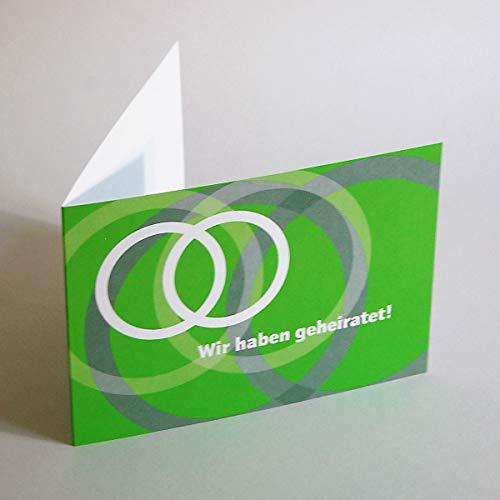 10 Danksagungskarten nach der Hochzeit, Claudia Kipp: Wir haben geheiratet! Klappkarten inkl. weißem haftklebendem C6-Umschlag (Elco Prestige)