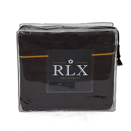 RLX - Juego de Sábanas Deluxe (Individual, Chocolate)