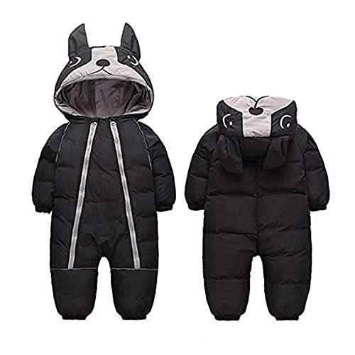 Fairy Baby Infant Boy Girl Winter Thick Romper Outwear Warm Hood Snowsuit Jumpsuit Size 4T (Black)