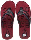 Tommy Hilfiger Hilfiger Maritime Beach Sandal, Punta Aperta Uomo, Rosso (Primary Red XLG), 44 EU