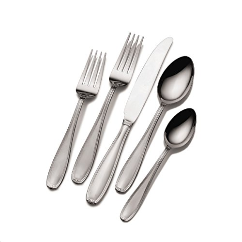 Pfaltzgraff Linden 45-Piece Stainless Steel Flatware Set with Caddy, Service for 8