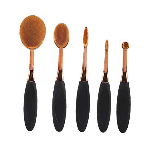 Brosse à dents style Sourcils brosse ovale brosse cosmétiques Beauté cosmétiques Outils de maquillage Appliquer pour le maquillage liquide en poudre ou crème 5Pcs