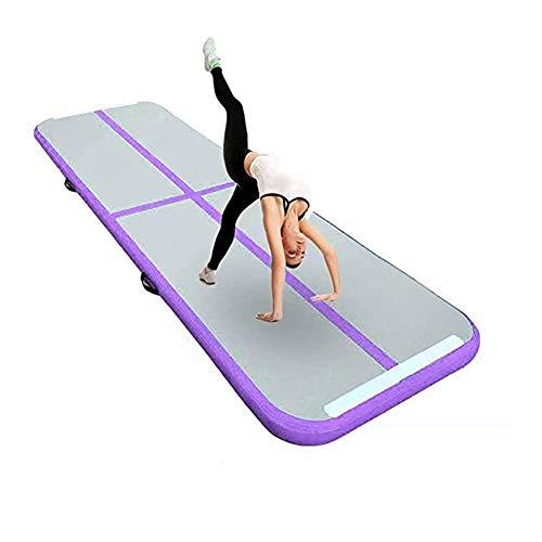 Opblaasbare Yogamat Gymnastiekmat PVC3 Meter Training Luchtkussen Algemeen Professioneel Sport Luchtkussen OEM,Purple,3 * 1 * 0.1