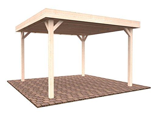 Pérgola cenador de madera para el jardín, 12,2 m²