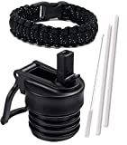 One MissionX Standard Straw Lid & Paracord Handle (Black Speckled)
