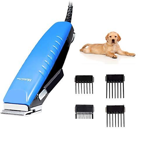 Maxell Power CORTAPELO para Animales Perros Mascotas Maquina 15W Potente Accesorios INCLUIDOS (Azul)