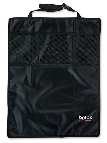 Britax Kick Mat Seat Protectors, 2-Pack | Water-Resistant + Machine Washable + Pocket Storage Organizer