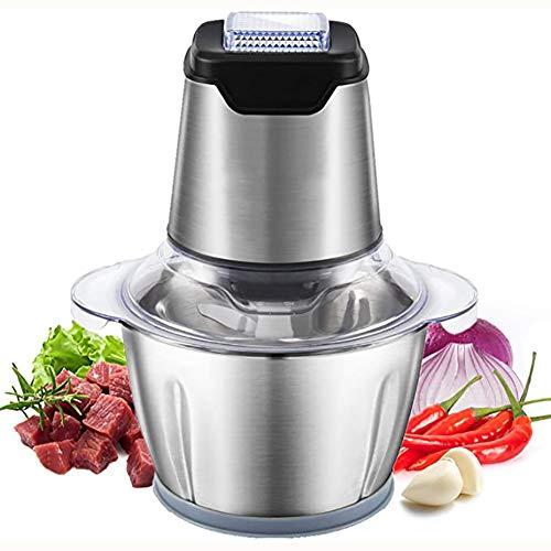 LJJ 1.2L Küche Elektrofleischwolf 200W Küche Mini Nahrungsmittelzerhacker - Elektro-Küchenmaschine Mit 4 Bi-Level-Blades, Für Fleisch, Gemüse, Obst, Zwiebel Und Nuss