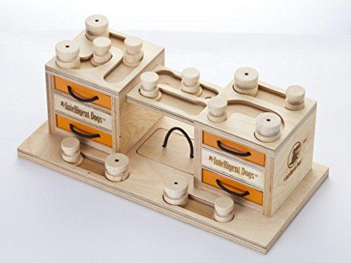 My Intelligent Dogs MID-02T Intelligenz Spielzeug für Hunde, 2 Türme, M