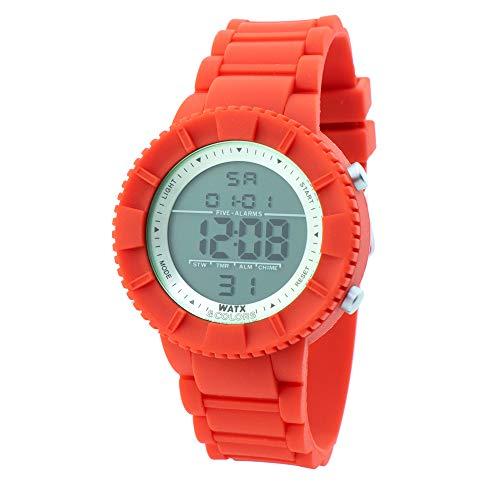Watx Reloj Digital para Hombres de Cuarzo con Correa en Caucho RWA1714-C1772
