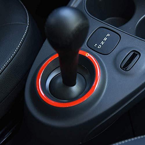 NBPLUS Adhesivo 3D para panel de mandos de Mercedes Smart 453 Fortwo Forfour Auto Styling modificación accesorios, rojo