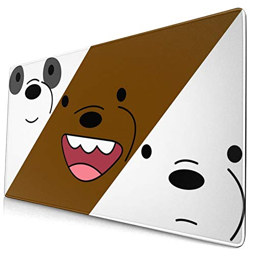 We Bare Bears Large Gaming Mouse Pads,with Non-Slip Computers Laptop Office&Home 750×400×3mm (29.5×15.8×0.12 Inch)