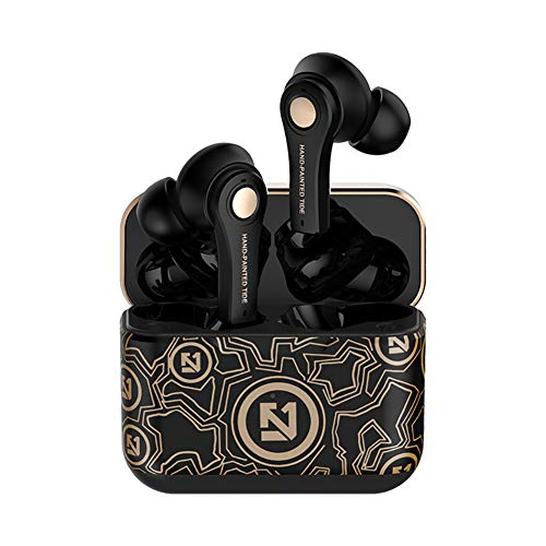 Morvsspe Wireless Earbuds Bluetooth 5.0 Earphones TWS Stereo Bass Headset with Charging Case 5H Playtime Bluetooth Headphone with Built-in Mic for Running/Workout/Gym (Black)
