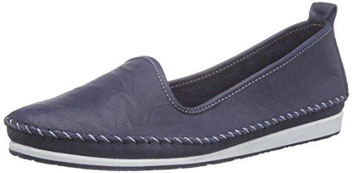 Andrea Conti Damen 0027449 Slipper, Blau (dunkelblau 017), 38