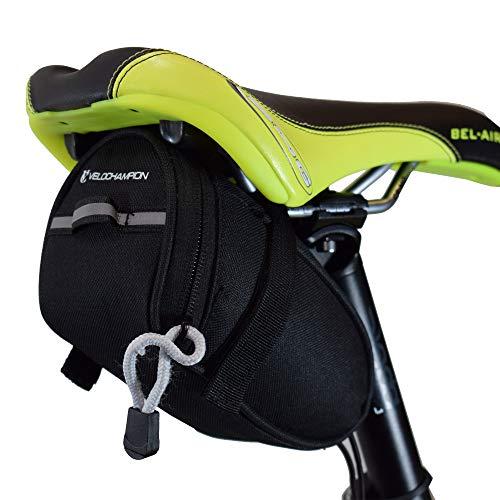 VeloChampion Speed Bolsa de sillin para Bicicleta Negra - Bike Seat Pack in Black