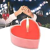 Vela roja en forma de corazón de 9 piezas, vela decorativa romántica sin perfume, velas flotantes de luces de té, para la fiesta de cumpleaños de la boda en casa
