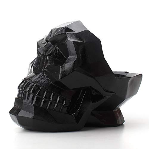 Venuy Adornos de artesanía de Calavera de Resina Abstracta Modelo Bar de Oficina Escultura en casa Estatua geométrica Origami teléfono de Escritorio