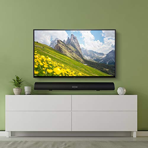 Sound Bar, 100Watt Bestisan Soundbar for TV, Wired & Wireless Bluetooth 5.0 Sound Bar(40 Inch, 6 Drivers, 105dB, Optical Cable Included, Remote Control, Bass Adjustable and Wall Mountable)