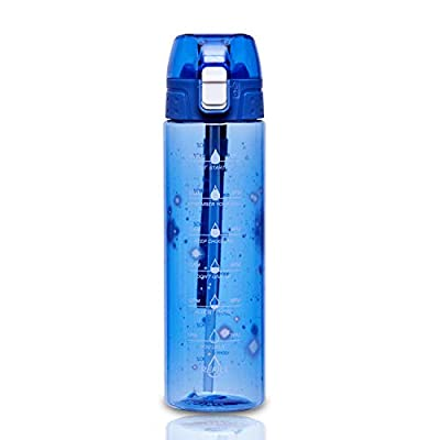 Amazon - 50% Off on 24oz / 32oz Motivational Water Bottle with Time Marker & Straw- Water