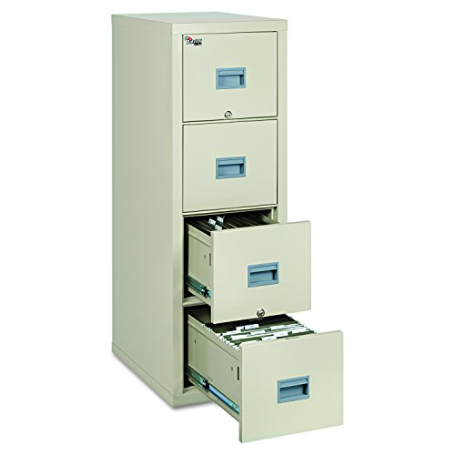 FireKing Patriot 4P1825-CPA One-Hour Fireproof Vertical Filing Cabinet, 4 Drawers, Deep Letter or Legal Size, 18' W x 25' D, Parchment, Made in USA