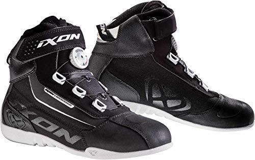 Ixon Assault EVO L - Botas de Moto (Talla L), Color Negro y Blanco
