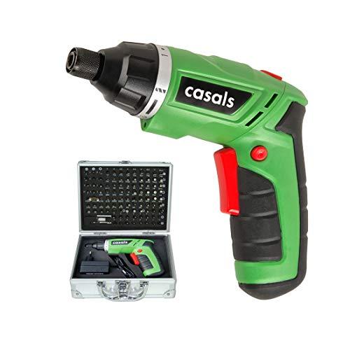 Casals C01241000 Atornillador a batería de litio y maletín completo, 4.7 W, 3.6 V,...