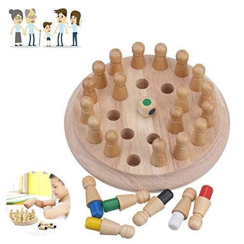 Memory Match Stick, Charminer Schachspielzeug, Gedächtnisschach, Holz Memory Chess Match Stick Schachspiel 3D Puzzle, Kinderbrettspielzeug, Brettspielzeug, Puzzlespielschach, für Kinder, Familien