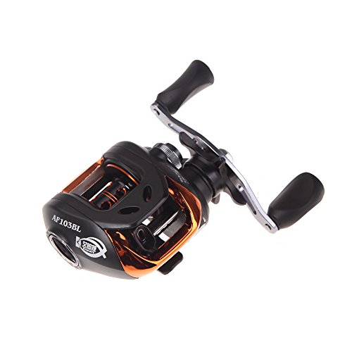 Docooler AF103 10 + 1BB Kugellager Linke Bait Casting Angelrolle High Speed ​​6.3: 1 Schwarz