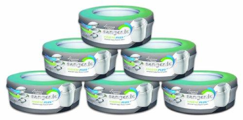 Sangenic 25037 0070 - Nachfüllkassette 6er-Packung für Hygiene Plus Komfort Windeltwister