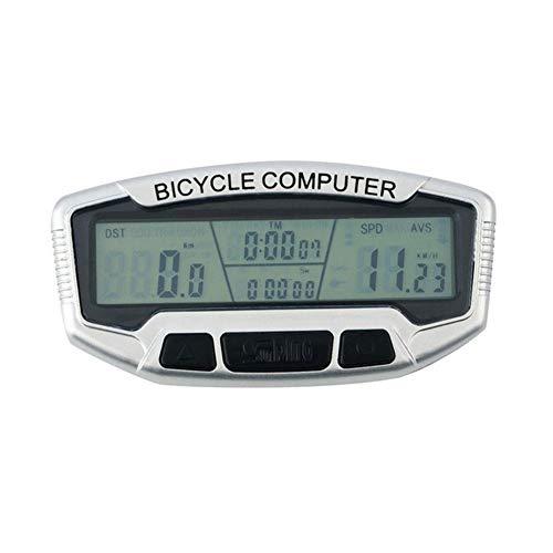 Calcolatore della Bicicletta Bici Wired LCD in Bicicletta Contachilometri Luminous Notte tachimetro Grande Schermo Bike Computer (Color : 0)