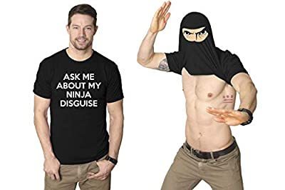 Turn into a Ninja Flip T Shirt Cool Fighter Disguise Funny Shirts