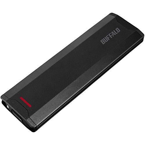 バッファロー SSD 外付け 500GB コンパクト USB3.1(Gen2) 高速転送1000MB/s 【Windows/Mac/PS5/PS4 メーカー動作確認済み】 SSD-PH500U3-BA
