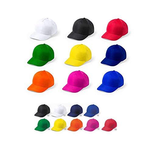 DISOK - Set di 20 Cappellini in Microfibra/Poliestere, Colori per Adulti, Uomini, Donne