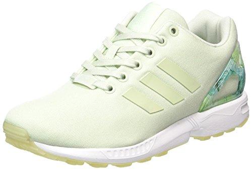 adidas ZX Flux, Scarpe Running Donna, Verde (Linen Green/Linen Green/Footwear White), 38 EU