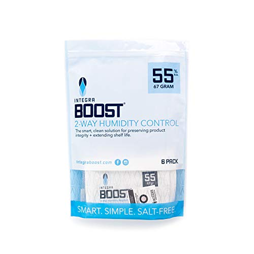 Integra Boost 55-Percent RH 2-Way Humidity Control, 67 Gram - 6 Pack !! New & Improved !!… (67 Gram)