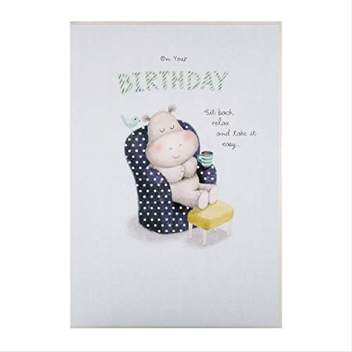 Algemene verjaardagskaart van keurmerk - Leuke Hippo Design