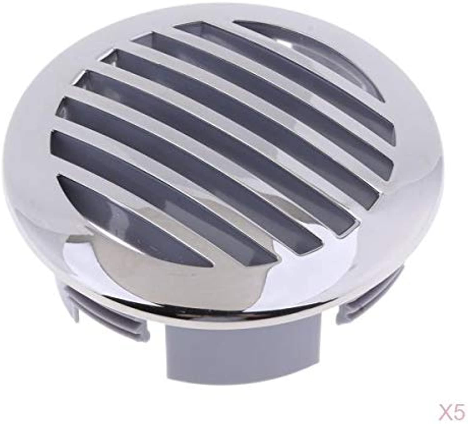 Almencla 5 Pieces Boats 3 inch 316 Stainless Steel Curved Clad AirFlow Vent Air Vent Cover Guard  81932SSHP